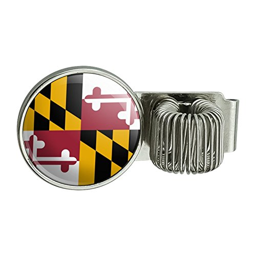 Maryland State Flagge Planer Journal Amts Book Diary Notebook Pen Halter Clip Zubehör (Maryland Clip)
