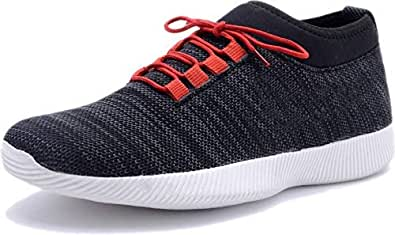 Red Rose Casual Sneakers Shoe's for Men's. (10, Black)