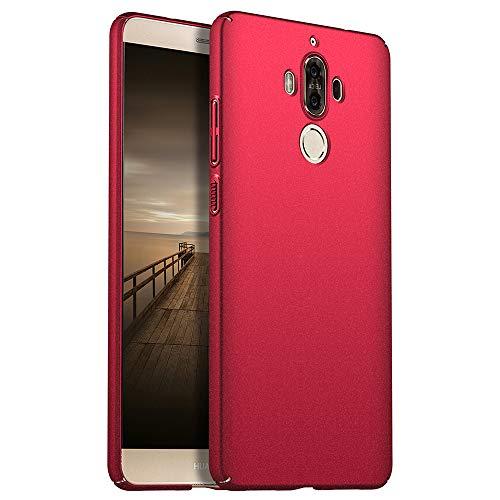 for Huawei Mate 9 Hülle, ZUERCONG [Sand Serie] Ultra Dünn Slim Cover Case Anti-Fingerabdrücke Shockproof Handytasche Hartplastik Schutzhülle für Huawei Mate 9, Kies Rot
