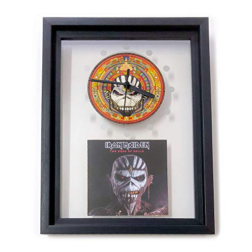 IRON MAIDEN - The Book Of Souls: GERAHMTE CD-WANDUHR/Exklusives Design (Iron Maiden Kunst)