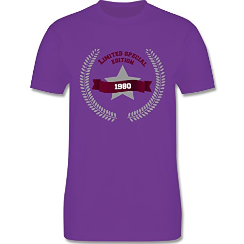 Geburtstag - 1980 Limited Special Edition - Herren Premium T-Shirt Lila