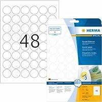 Herma Etichette bianco siglatura rimovibili su diametro 30mm Special A4VE = 1200pezzi