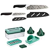 Genius Magic Cut | 10 Teile | inkl. GRATIS Nicer Dicer Fusion Smart | Universal-Messer | Bekannt aus TV | NEU