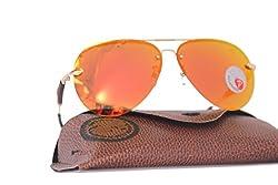 OMA Polorized Aviator Round Shape Without Frame Mens & Womens Orange sunglasses