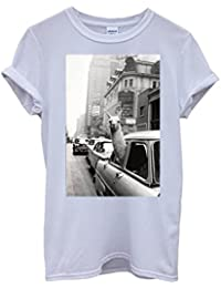 LLama Lama in the Car Vintage Retro Funny Hipster Swag White Blanc Femme Homme Men Women Unisex Top T-Shirt