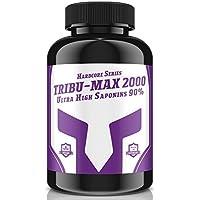 TRIBU-MAX 2000 - 240 Tabletten für 60 Tage Versorgung   Hardcore Series Hochdosiert   Ultra High Saponin 90%   100 % Vegan - Muskelaufbau + Potenz   Premium Qualität made in Germany