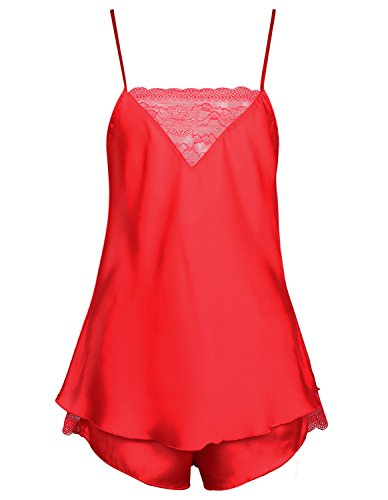 Burvogue -  Pigiama due pezzi  - Donna Red