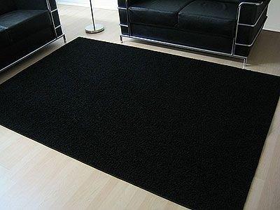 Teppich 24  Teppich Hochflor Shaggy Prestige Schwarz in 24 Größen: Amazon.de ...