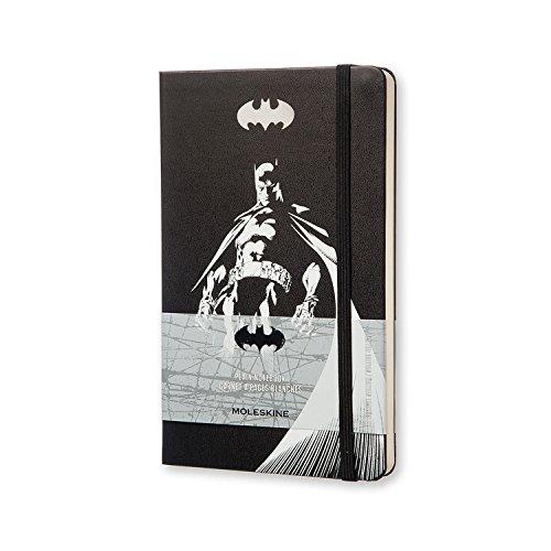 Moleskine Batman Edition limitée Carnet de note, Large, Plain, Noir, Couverture rigide (21 x 13 cm)