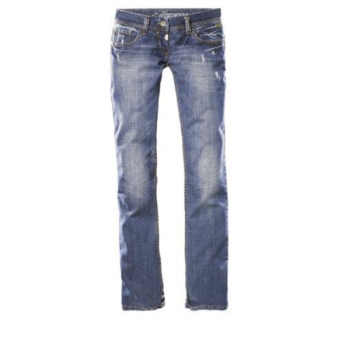 Timezone Lisa 16-5069 Damen Jeans, Gr. 28/ 34, Blau (vintage wash 3159)