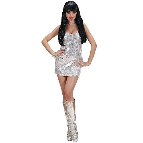 ostüm Disco Fever (Silber Disco Kleid)