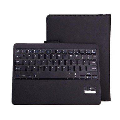 Bluetooth V3.0 64-Tasten-Tastatur mit PU-Leder-Kasten-Standplatz für Samsung Galaxy Tab 10.1 Pro , black