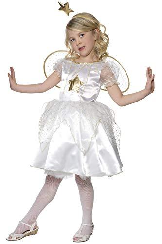 Smiffys Kostüm Sternenfee Weiß mit Kleid Stirnband und Flügeln, Medium