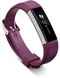 Malloom Recambio pulsera bandas correas para Fitbit Alta pulsera brazalete + Hebilla (rojo)