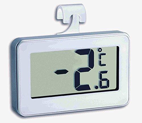 Digitales Thermometer für Kühl und Gefrierschränke (Silber)