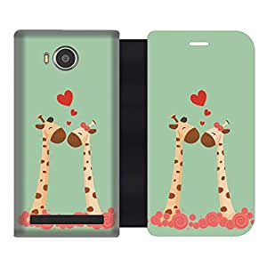 Skintice Designer Flip Cover with hi-res printed Vinyl sticker wrap-around for Lenovo A7700