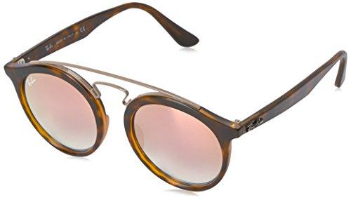 Ray-Ban RAYBAN Unisex-Erwachsene Sonnenbrille 4256 Matte Havana/Mirrorgradientcopper, 49