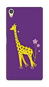 Amez designer printed 3d premium high quality back case cover for Sony Xperia Z5 Plus (Purple giraffe)