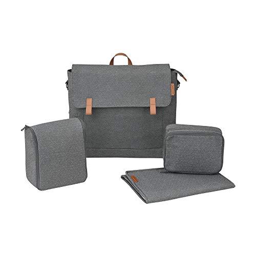 Maxi Cosi Modern Bag, praktische Wickeltasche mit vielen Extras, Thermobox, Wickelunterlage, Thermobox, Kulturtasche, Baby-Tasche, Windel-Tasche, sparkling grey
