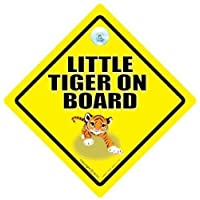 Little Tiger On Board, Little Tiger On Board Car Sign, Tiger On Board, Tiger Sign, Baby On Board Sign, Novelty Car Sign, Baby on Board Sign, Decal, Bumper Sticker, Baby sign, Baby CarSign