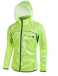 oeste ciclismo ciclismo chubasquero ligero de ropa de deporte exterior impermeables y cortavientos transpirable, Niños Unisex niña hombre mujer, verde