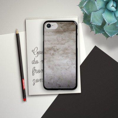 Apple iPhone X Silikon Hülle Case Schutzhülle Stein Struktur Wand Hard Case schwarz