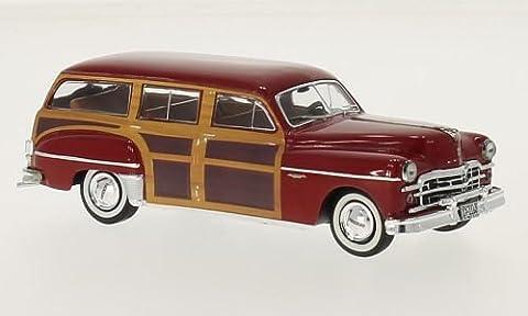 Dodge Coronet Woody Wagon, rouge foncé, 1949, voiture miniature, Miniature déjà montée, Premium X 1:43