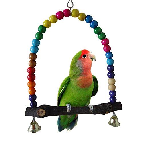 jiacheng29Colorful Vogel Spielzeug Parrot Swing Käfig Ständer Rahmen Nymphensittiche Wellensittiche Aufhängen Hängematte (Flying Käfig)