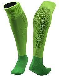 TeyxoCo Soccer Basketball Compression Sports Socks Stockings Green