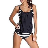 reine à la mode - Bikini femme 2 pieces maillot de bain Haut et bas,Taille haute style,multi-motifs (M, SJ3106)