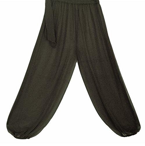 Bauchtanz Harem Hose zum Tanzen Tribal Tänzer Kostüm Yoga FANCY KLEID Leggings M L XL (SCHWARZ)