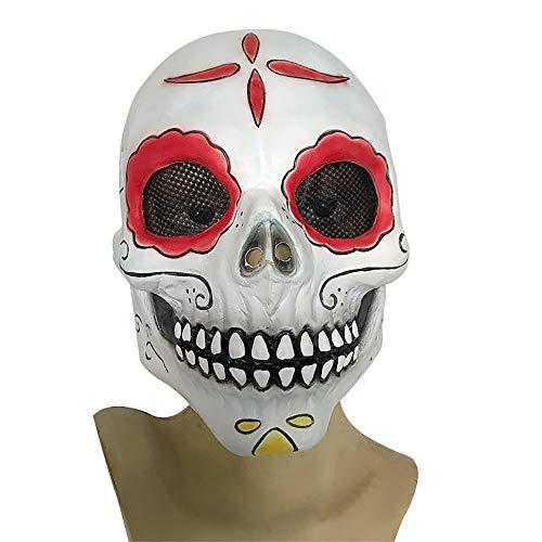2018 Neue Halloween Maske Dämon Maske Schockierend Realistische Clown Teufel Latex Kopfbedeckungen Unisex 1 Stücke Stücke Erwachsene Geschenk,White,Onesize