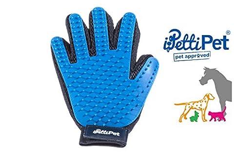 BÜRSTENHANDSCHUH | Striegel Bürsten-Handschuh | FELLPFELGE-HANDSCHUH | Grooming Deshedding Glove | BÜRSTE für PFERD KATZE HUND | Haar-Remover-Bürste | Striegel | Massage-Handschuh | Pflege-Bürste | Tierhaar-Handschuh | Fingerhandschuhe | Bürste | einfache Entfernung loser Tierhaare |Haarentferner aus Silikon für Fellpflege und Reinigen (Rechte (Staub Remover)