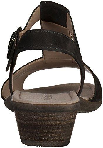 Gabor sandalo delle donne 44.541.17 nero Nero (nero)