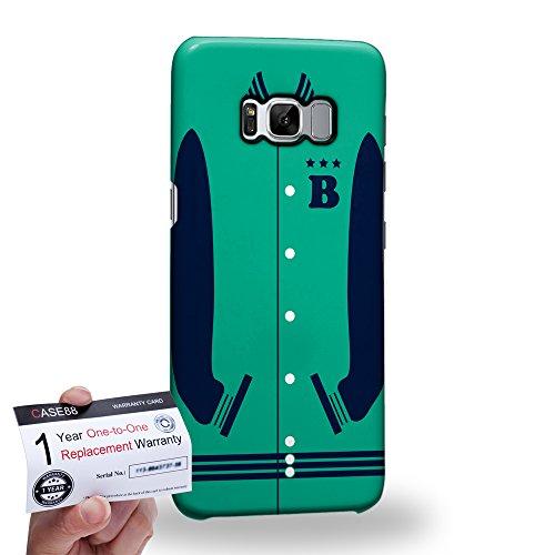 (Case88 [Samsung Galaxy S8] 3D Hülle / Schutzhülle & Garantiekarte - Art Sports Mint Baseball Jersey 1987)