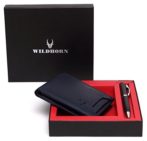 WildHorn Blue Men's Wallet (GIFTBOX177)