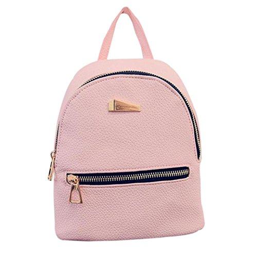 Koly_Nuovo zaino da viaggio borsa zaino delle donne (rosa)
