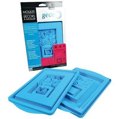 Pebeo, Gedeo - Stampino per forme di ghiaccio 30 x 20 cm, colore: Blu