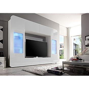 wohnwand weiss hochglanz k che haushalt. Black Bedroom Furniture Sets. Home Design Ideas