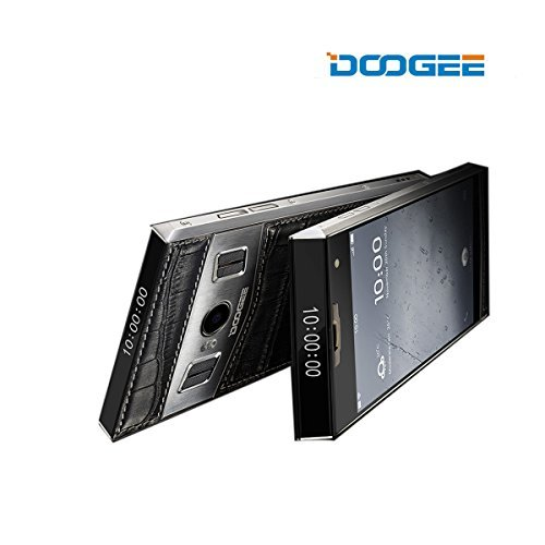 DOOGEE TITANS T3 - Smartphone 4G LTE Android 6.0 ( MT6753 1.3GHz Octa Core, 4.7'' IPS HD Schermo, 3GB RAM 32GB ROM, 5MP+13MP Camera, Dual ID, Doppio Display, HotKnot, OTG)-(Nero)