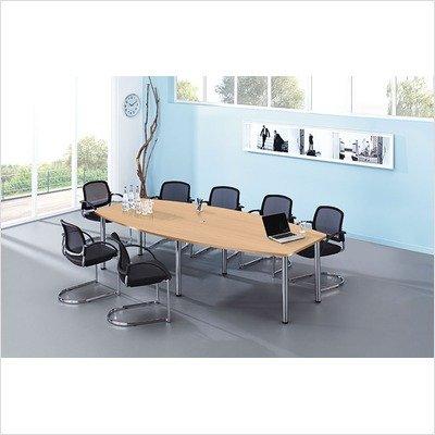 Konferenztisch - Gestellvariante Rundrohrbeine, für 10 Personen - lichtgrau - Besprechungstisch Besprechungstische Besuchertisch Besuchertische...