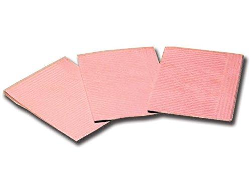 GIMA 25232 Salviettine Politenate 33 x 45 cm, Rosa, Confezione 500 Pezzi