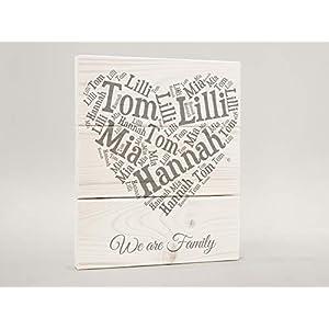 Personalisiertes Türschild I Familienschild I Familienname I Holzschild-Familienname I Türschild aus Holz I Namensschild I Holzschild Eingang