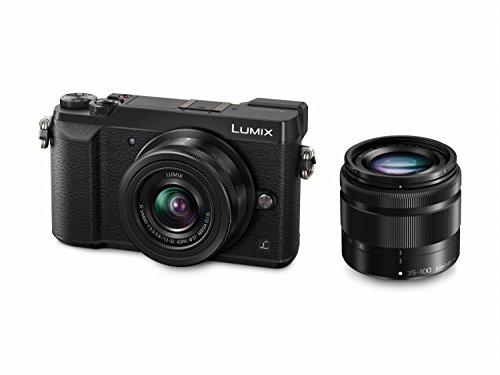 Panasonic DMC-GX80WEBK Digital Single Lens Mirrorless Camera Twin Kit - Black