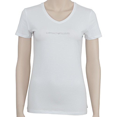 Emporio Armani Underwear Damen V-Neck T-Shirt 163321CC317, Weiß (Bianco 00010), Medium