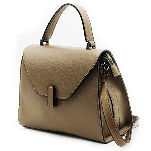 MISEMIYA - Borsa a Mano Donna Pochette e Clutch Borse a mano e a spalla mano borsa(25 * 24 * 11cm) SR-J9966 - TAUPE