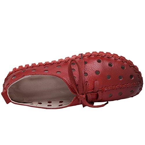 Vogstyle Donna Monocromatici Espadrillas Scarpe Tacco Basso Sandali Singoli Pattini Casuali Stile 3 Rosso