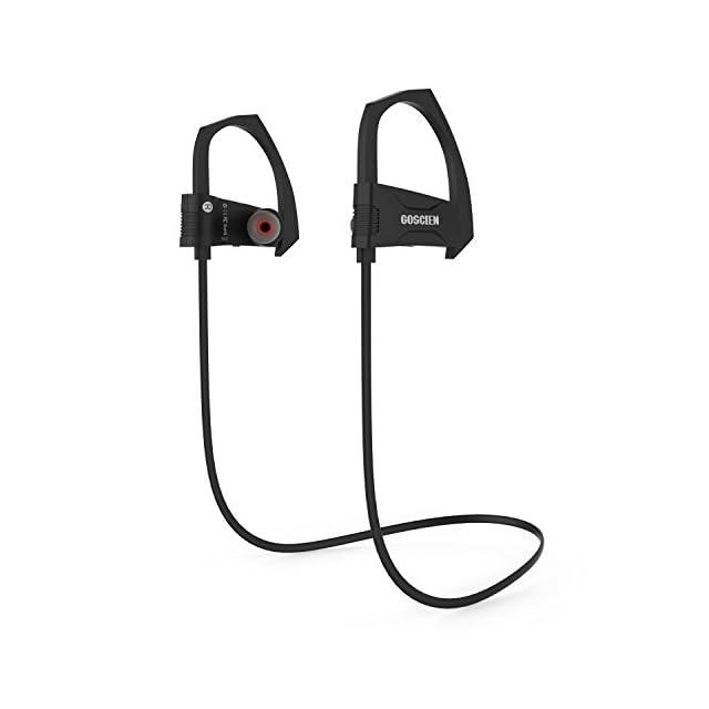 Écouteurs Bluetooth Sans Fil GOSCIEN Oreillettes Bluetooth Sport Intra Auriculaires Audio Anti-Transpirants Stéréo headphone with Microphone EDR DSP Suppression du Bruit et Mains-Libres pour iPhone, Samsung, Huawei, Wiko, autres Smartphone