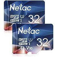 Netac 32G Scheda Micro SD Set da 2, Scheda di Memoria A1, U1, C10, V10, FHD, 600X, UHS-I velocità Fino a 90/10 MB/Sec(R/W) Micro SD Card per Telefono, Videocamera, Switch, Gopro, Tablet