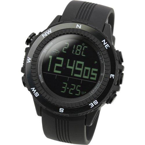 [Lad Weather] Deutsch Sensor digitaler Höhenmesser Barometer Kompass Wettervorhersage Herren Armbanduhr Hintergrundbeleuchtung Alarm Kalender